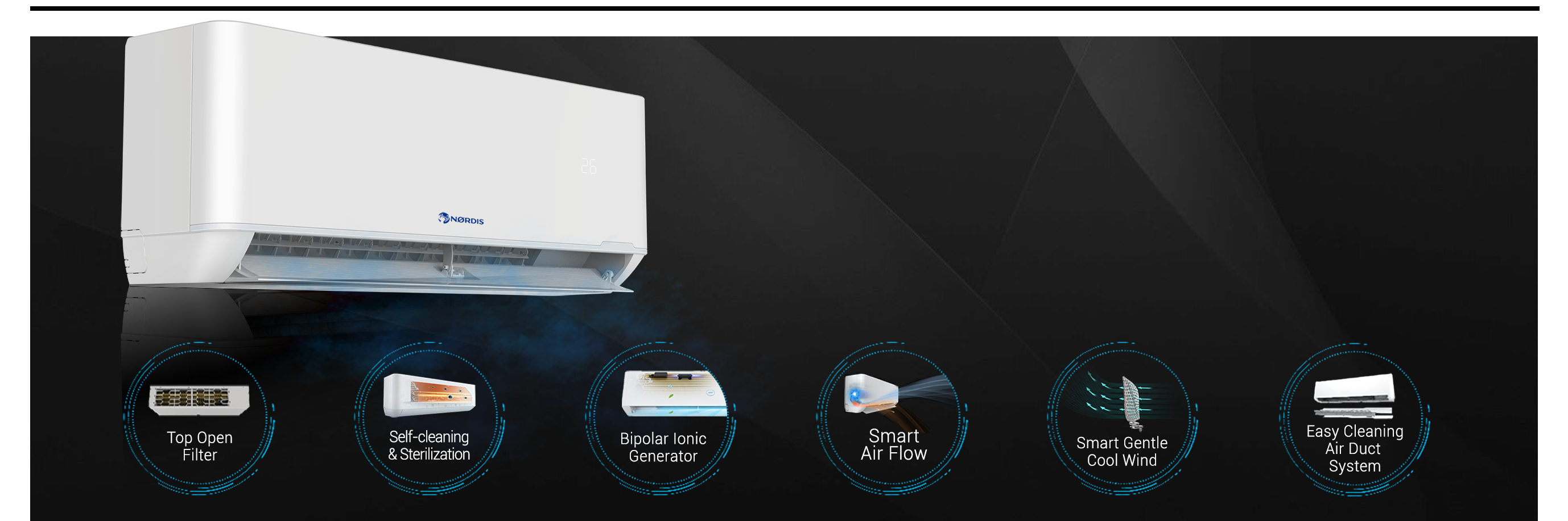 NØRDIS ORION PRO is a new generation inverter air conditioner-heat pump.